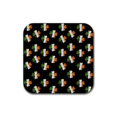 Irish Clover Rubber Coaster (square)  by Valentinaart