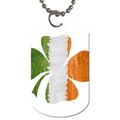 Irish Clover Dog Tag (one Side) by Valentinaart
