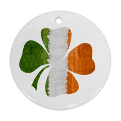Irish Clover Round Ornament (two Sides) by Valentinaart