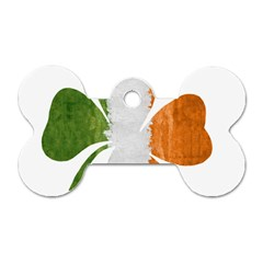 Irish Clover Dog Tag Bone (two Sides) by Valentinaart