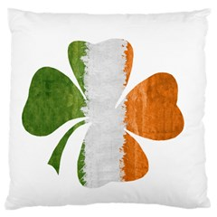 Irish Clover Large Cushion Case (two Sides) by Valentinaart