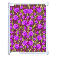 Roses Dancing On A Tulip Field Of Festive Colors Apple Ipad 2 Case (white) by pepitasart