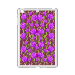 Roses Dancing On A Tulip Field Of Festive Colors Ipad Mini 2 Enamel Coated Cases by pepitasart