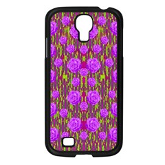 Roses Dancing On A Tulip Field Of Festive Colors Samsung Galaxy S4 I9500/ I9505 Case (black) by pepitasart
