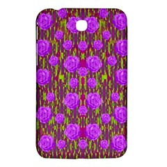 Roses Dancing On A Tulip Field Of Festive Colors Samsung Galaxy Tab 3 (7 ) P3200 Hardshell Case  by pepitasart