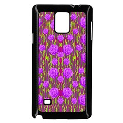 Roses Dancing On A Tulip Field Of Festive Colors Samsung Galaxy Note 4 Case (black) by pepitasart