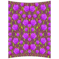 Roses Dancing On A Tulip Field Of Festive Colors Back Support Cushion