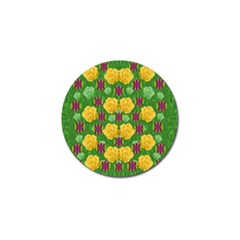 Roses Dancing On  Tulip Fields Forever Golf Ball Marker by pepitasart