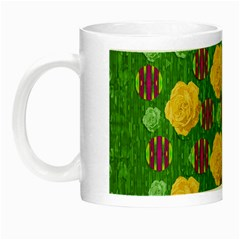 Roses Dancing On  Tulip Fields Forever Night Luminous Mugs by pepitasart