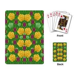 Roses Dancing On  Tulip Fields Forever Playing Card by pepitasart