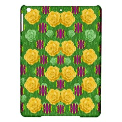 Roses Dancing On  Tulip Fields Forever Ipad Air Hardshell Cases by pepitasart