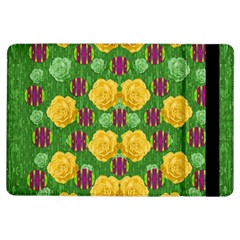 Roses Dancing On  Tulip Fields Forever Ipad Air Flip by pepitasart
