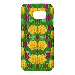 Roses Dancing On  Tulip Fields Forever Samsung Galaxy S7 Edge Hardshell Case by pepitasart
