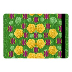 Roses Dancing On  Tulip Fields Forever Apple Ipad Pro 10 5   Flip Case by pepitasart
