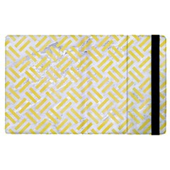 Woven2 White Marble & Yellow Watercolor (r) Apple Ipad Pro 9 7   Flip Case by trendistuff