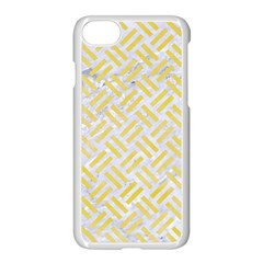Woven2 White Marble & Yellow Watercolor (r) Apple Iphone 7 Seamless Case (white) by trendistuff