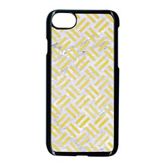 Woven2 White Marble & Yellow Watercolor (r) Apple Iphone 8 Seamless Case (black) by trendistuff