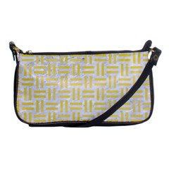 Woven1 White Marble & Yellow Watercolor (r) Shoulder Clutch Bags by trendistuff