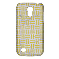 Woven1 White Marble & Yellow Watercolor (r) Galaxy S4 Mini by trendistuff
