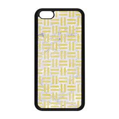 Woven1 White Marble & Yellow Watercolor (r) Apple Iphone 5c Seamless Case (black) by trendistuff