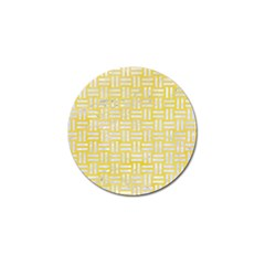 Woven1 White Marble & Yellow Watercolor Golf Ball Marker (4 Pack) by trendistuff