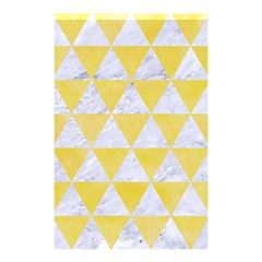 Triangle3 White Marble & Yellow Watercolor Shower Curtain 48  X 72  (small)