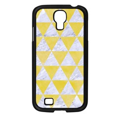 Triangle3 White Marble & Yellow Watercolor Samsung Galaxy S4 I9500/ I9505 Case (black) by trendistuff