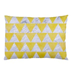 Triangle2 White Marble & Yellow Watercolor Pillow Case