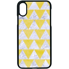 Triangle2 White Marble & Yellow Watercolor Apple Iphone X Seamless Case (black)