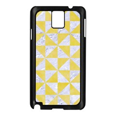 Triangle1 White Marble & Yellow Watercolor Samsung Galaxy Note 3 N9005 Case (black) by trendistuff