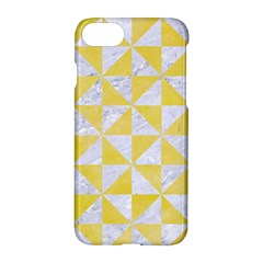 Triangle1 White Marble & Yellow Watercolor Apple Iphone 8 Hardshell Case by trendistuff