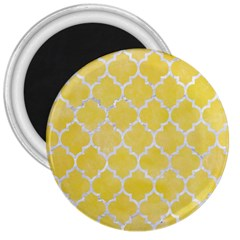 Tile1 White Marble & Yellow Watercolortile1 White Marble & Yellow Watercolor 3  Magnets by trendistuff