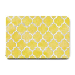 Tile1 White Marble & Yellow Watercolortile1 White Marble & Yellow Watercolor Small Doormat  by trendistuff