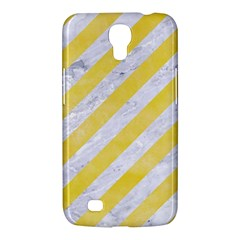 Stripes3 White Marble & Yellow Watercolor (r) Samsung Galaxy Mega 6 3  I9200 Hardshell Case