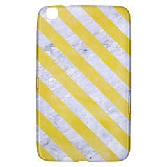 Stripes3 White Marble & Yellow Watercolor Samsung Galaxy Tab 3 (8 ) T3100 Hardshell Case  by trendistuff