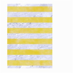 Stripes2white Marble & Yellow Watercolor Large Garden Flag (two Sides)