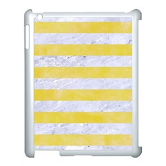 Stripes2white Marble & Yellow Watercolor Apple Ipad 3/4 Case (white) by trendistuff