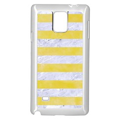 Stripes2white Marble & Yellow Watercolor Samsung Galaxy Note 4 Case (white) by trendistuff
