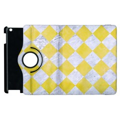 Square2 White Marble & Yellow Watercolor Apple Ipad 2 Flip 360 Case by trendistuff