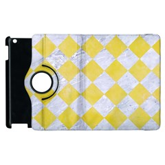 Square2 White Marble & Yellow Watercolor Apple Ipad 3/4 Flip 360 Case by trendistuff