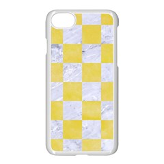 Square1 White Marble & Yellow Watercolor Apple Iphone 7 Seamless Case (white) by trendistuff