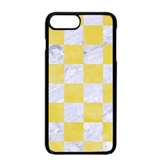 Square1 White Marble & Yellow Watercolor Apple Iphone 8 Plus Seamless Case (black)