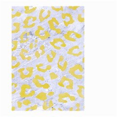 Skin5 White Marble & Yellow Watercolor Small Garden Flag (two Sides) by trendistuff