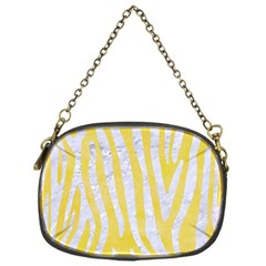 Skin4 White Marble & Yellow Watercolor (r) Chain Purses (one Side)  by trendistuff