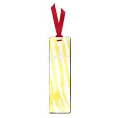 Skin4 White Marble & Yellow Watercolor (r) Small Book Marks by trendistuff