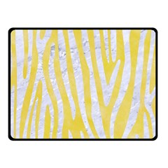 Skin4 White Marble & Yellow Watercolor (r) Double Sided Fleece Blanket (small)  by trendistuff