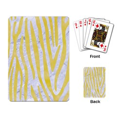 Skin4 White Marble & Yellow Watercolor Playing Card by trendistuff