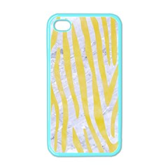 Skin4 White Marble & Yellow Watercolor Apple Iphone 4 Case (color) by trendistuff