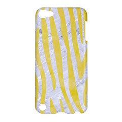 Skin4 White Marble & Yellow Watercolor Apple Ipod Touch 5 Hardshell Case by trendistuff