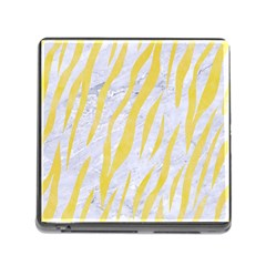 Skin3 White Marble & Yellow Watercolor (r) Memory Card Reader (square) by trendistuff